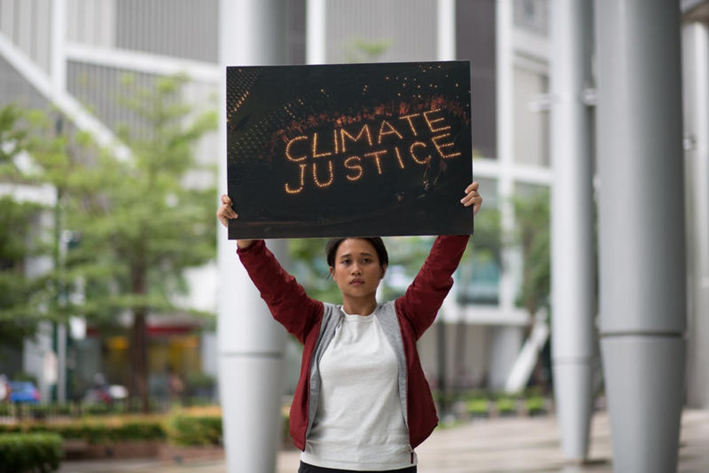 climate justice activist vs Shell