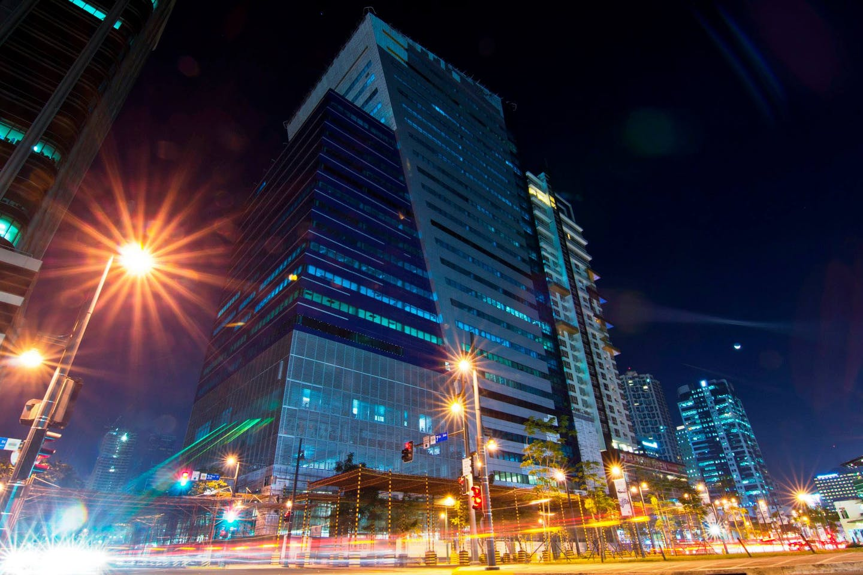 Globe Telecom headquarters in Taguig City, Philippines.