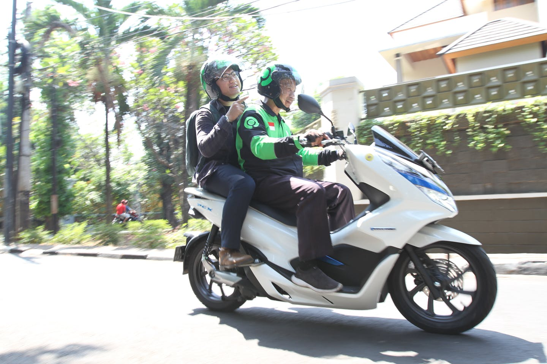 Gojek driver in Jakarta