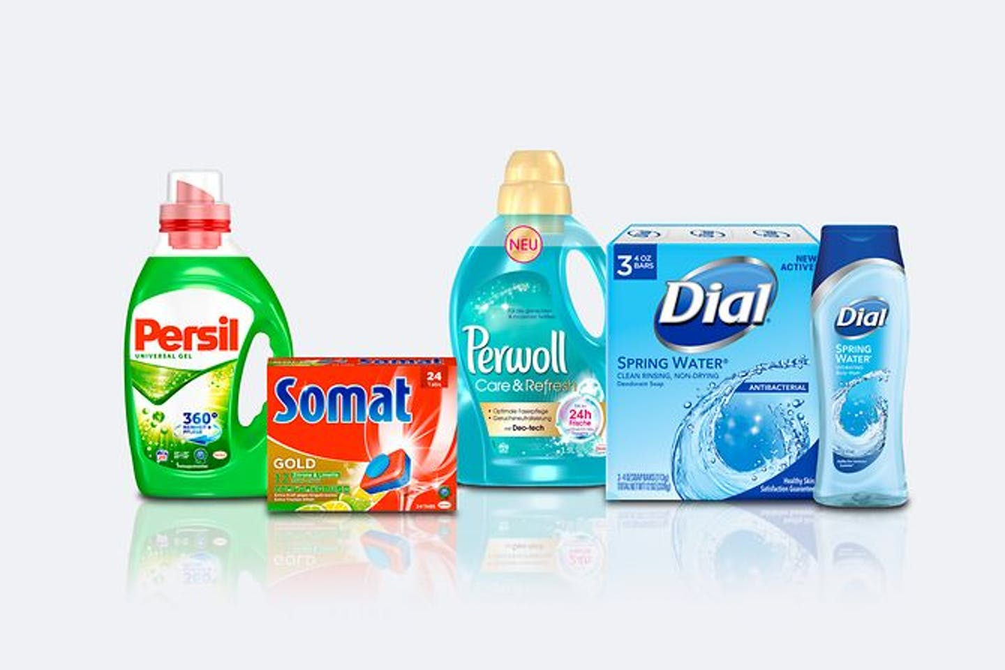 Some of Henkel's top laundry and home care brands. Image: Henkel