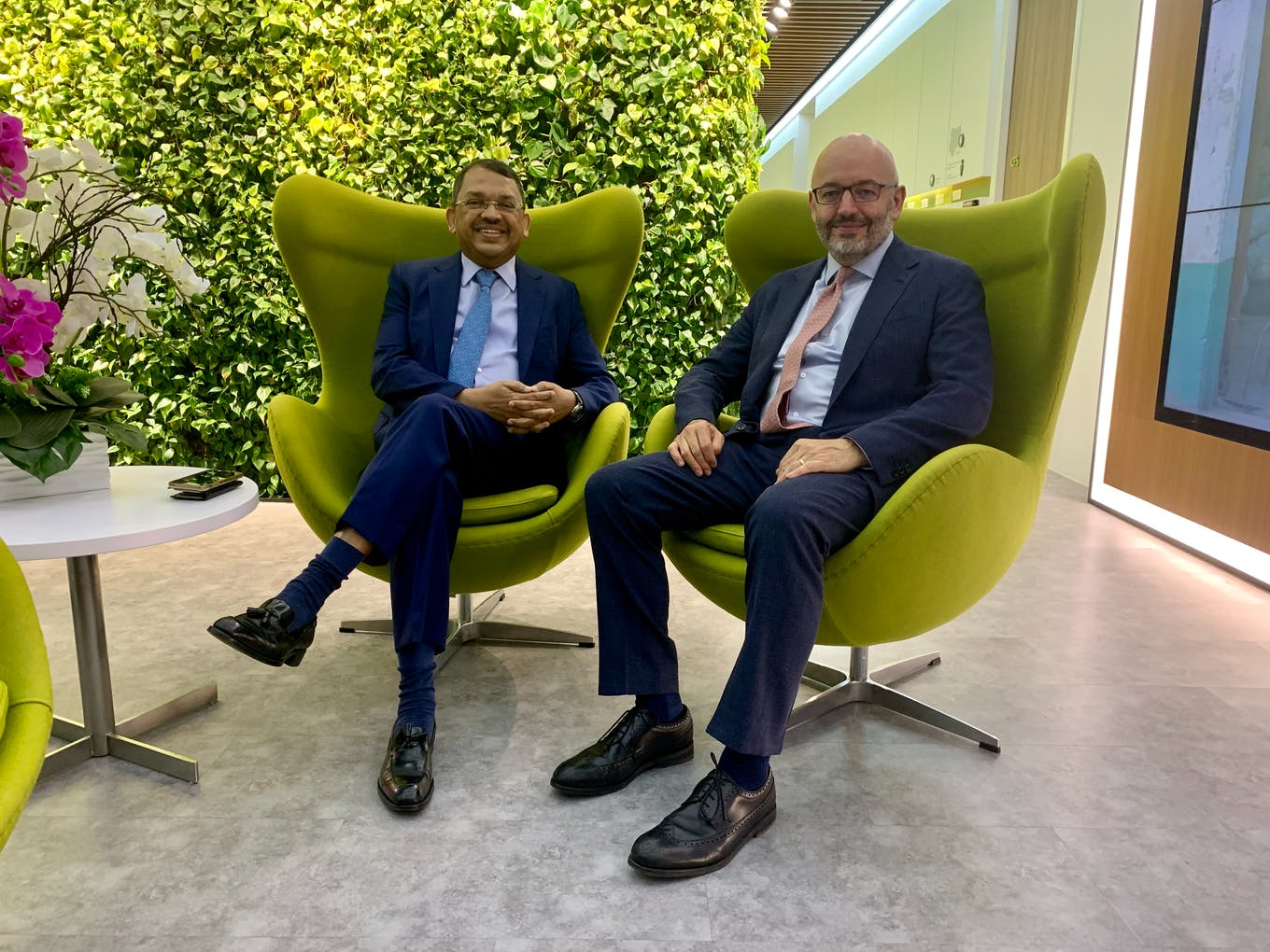 WBCSD chairman Sunny Verghese and president Peter Bakker