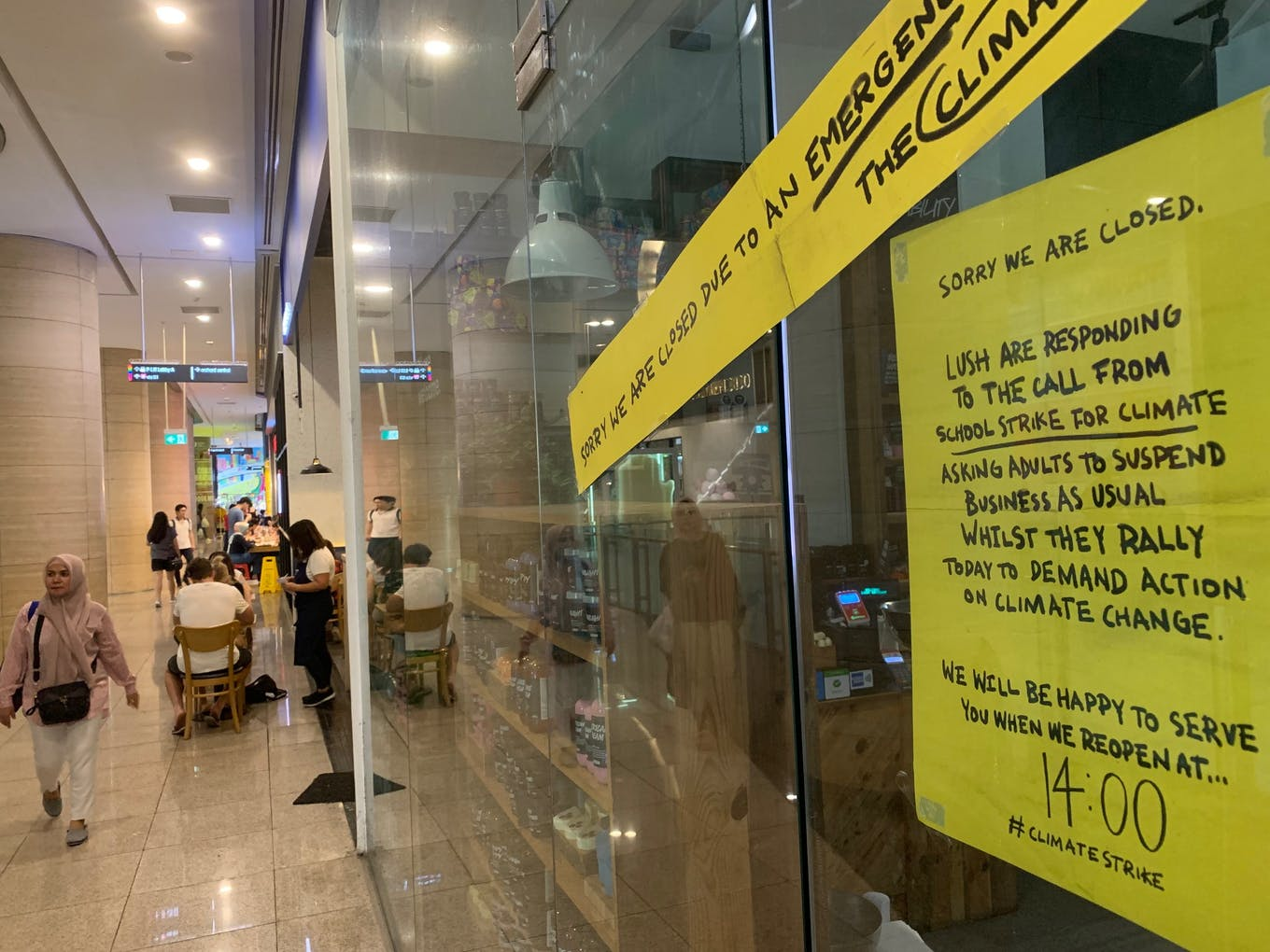 Lush's store on Orchard Road is closed for business.