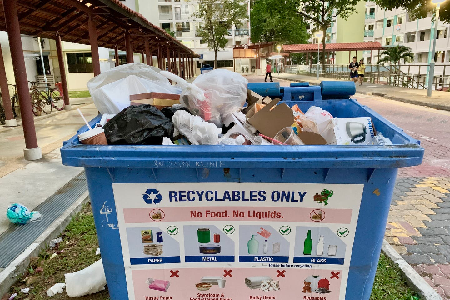 A recycling bin in Singapore