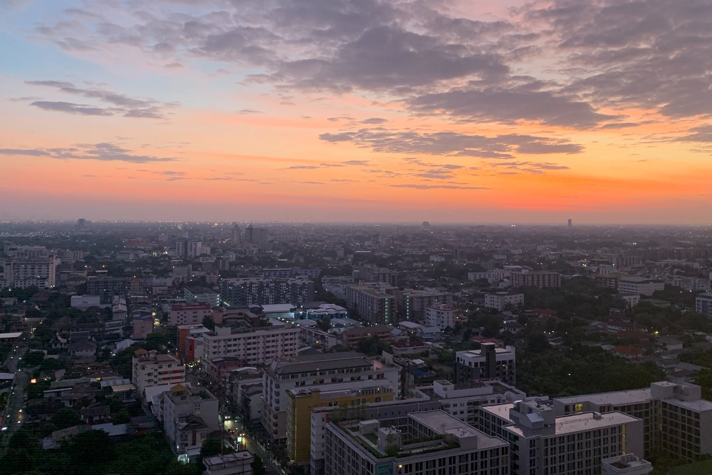 Sunrise in Bangkok, one of Southeast Asia's most climate-vulnerable cities.