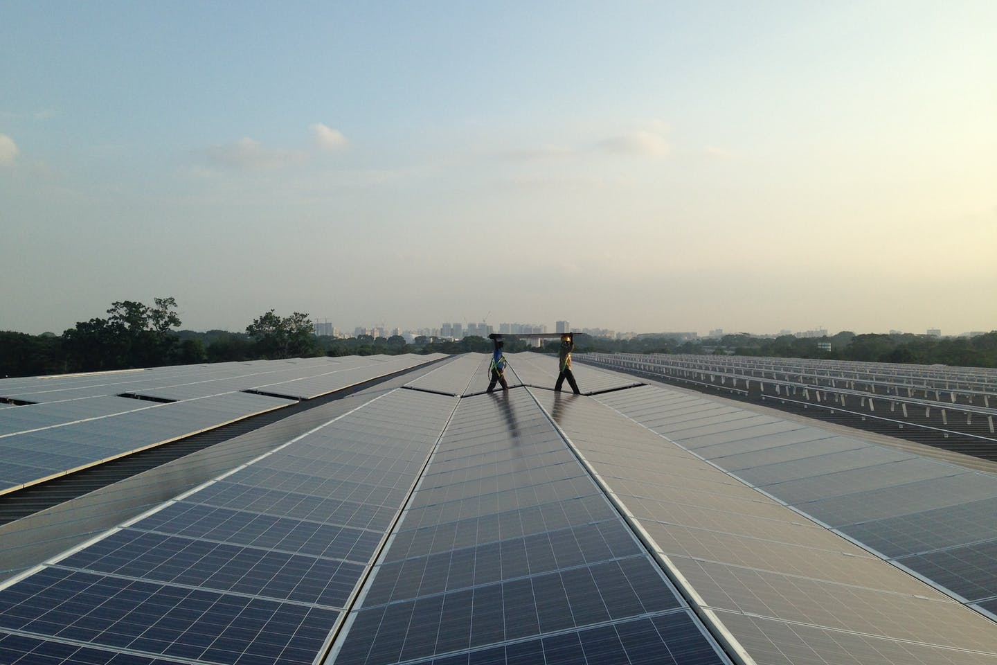 A solar installation in Singapore by LYS Energy Group. Image: LYS Energy