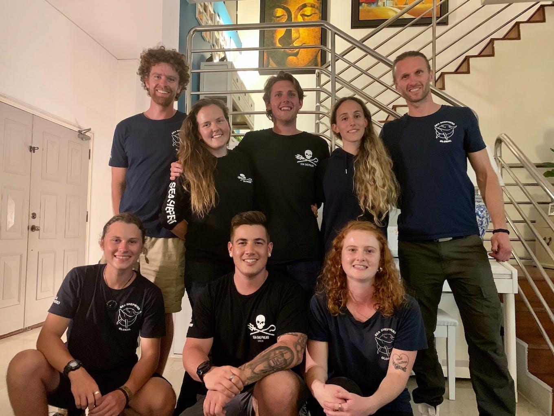 Sea Shepherd crew from the Ocean Warrior in Singapore