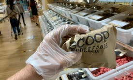 'Zero plastic' organic foods retailer introduces disposable gloves for customers as Covid-19 prevention measure