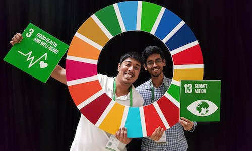 Students for sustainability... Young Sustainable Impact SEA founders Sai Surya Yarlagadda and Irsyad Ramthan
