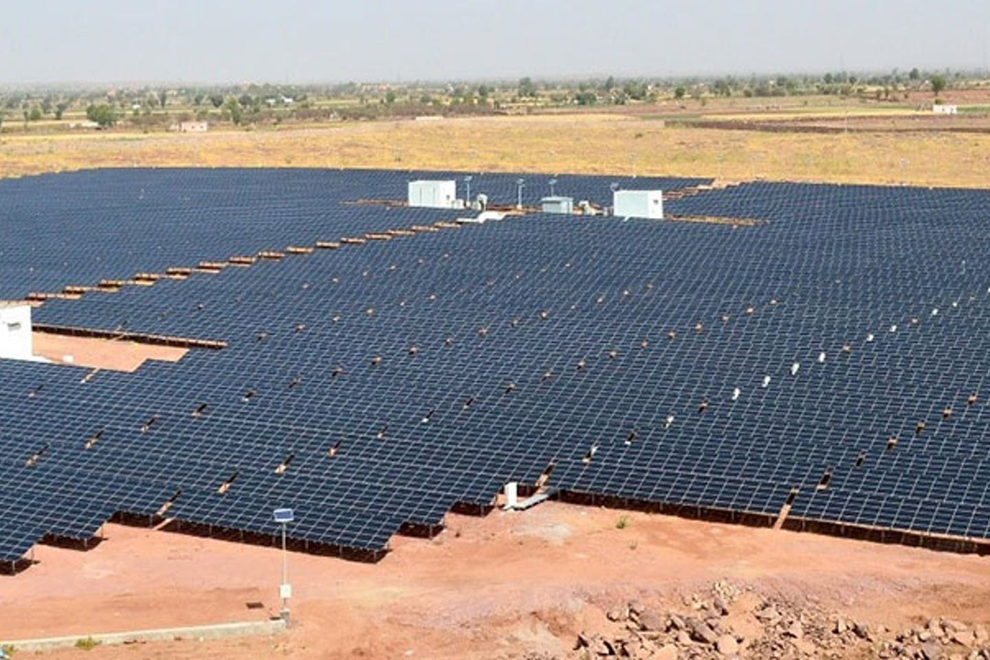 A solar power project