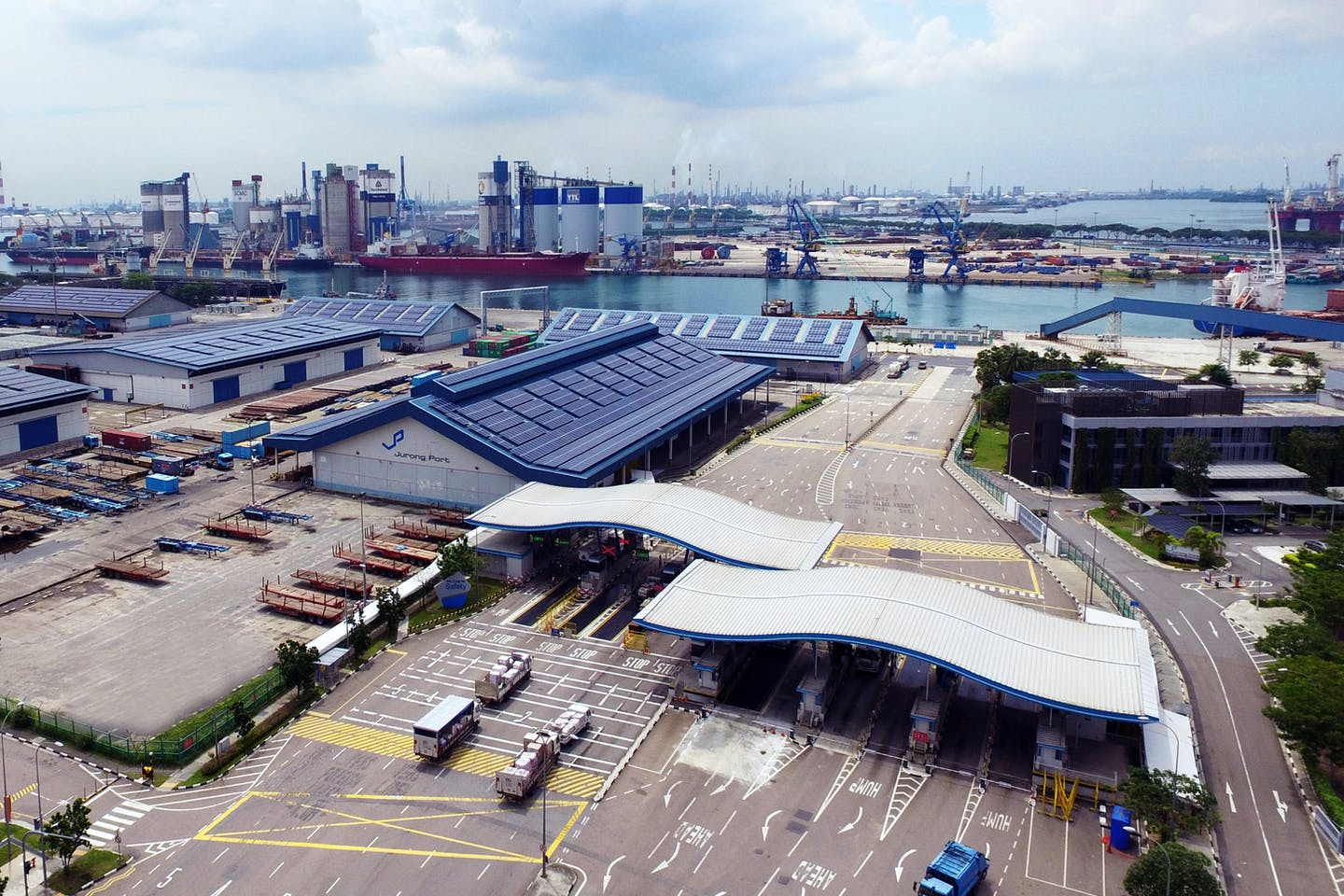 Jurong Port in Singapore