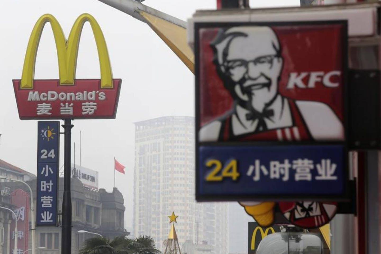 KFC and McDonalds in Beijing