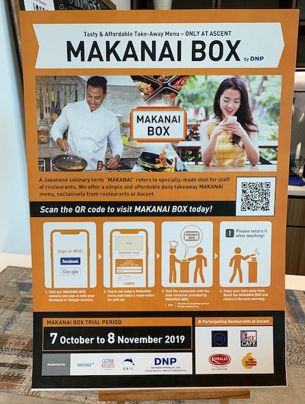 A Makanai Box poster: Image: Eco-Business