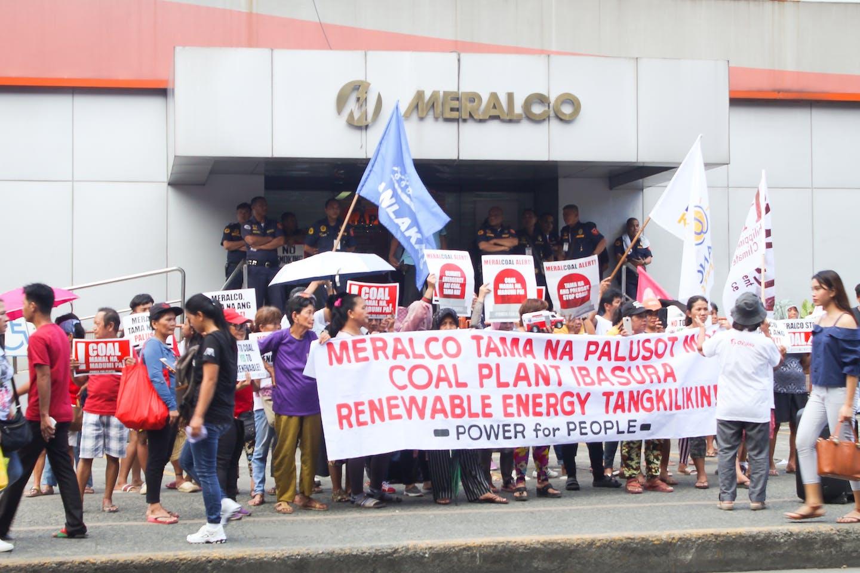 meralco coal protest