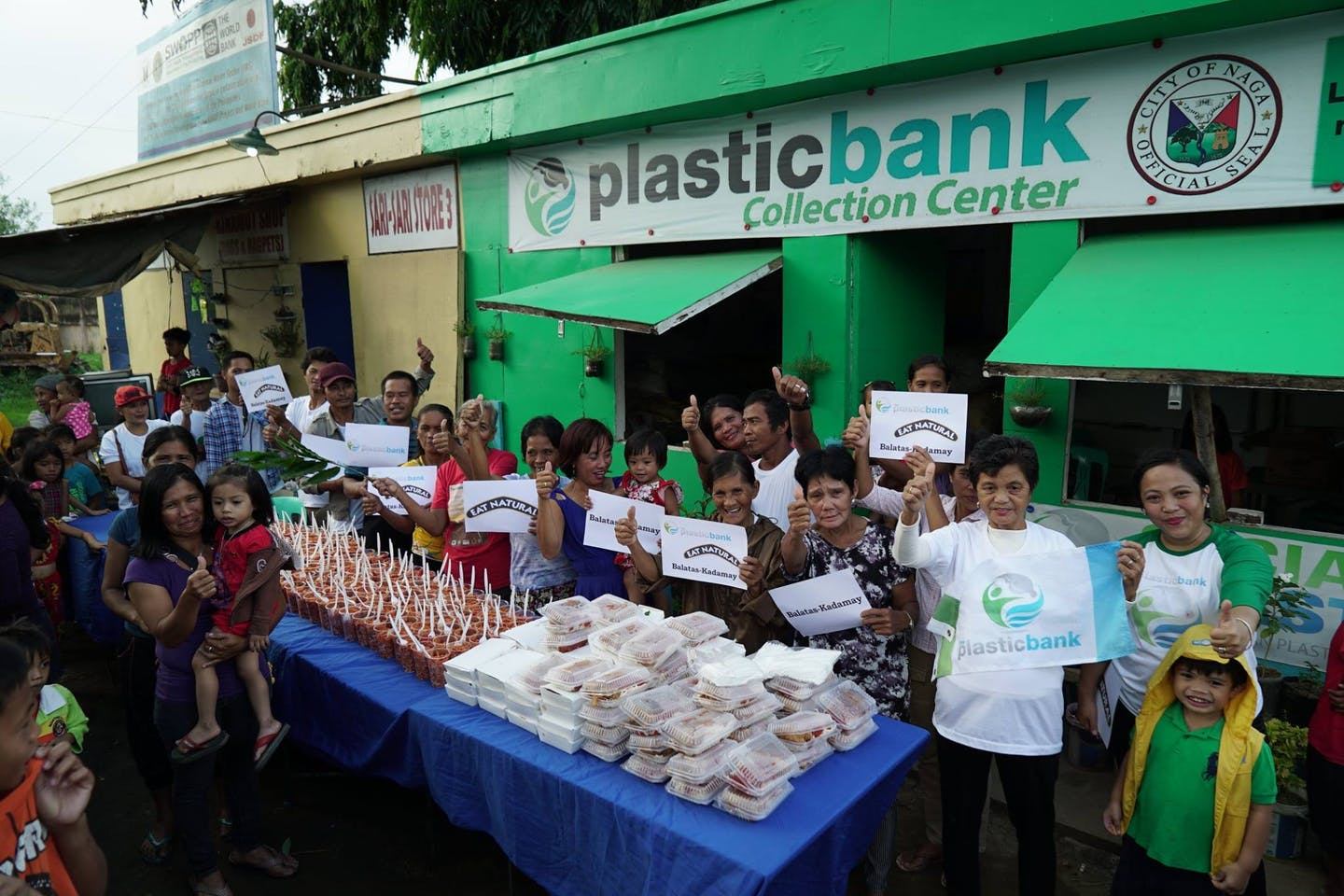 A Plastic Bank collection centre in the Philippines