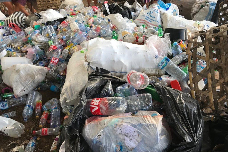 Plastic awaits recycling in Bali, Indonesia. Image: Alvaro Aguilar