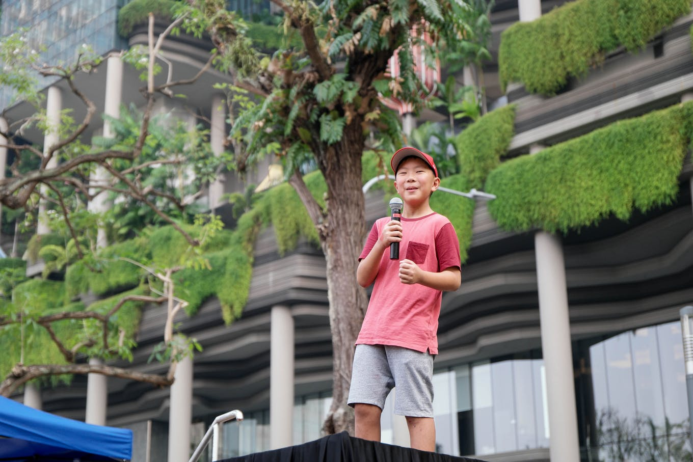 11 year-old Oliver Chua speaking at SG Climate Rally