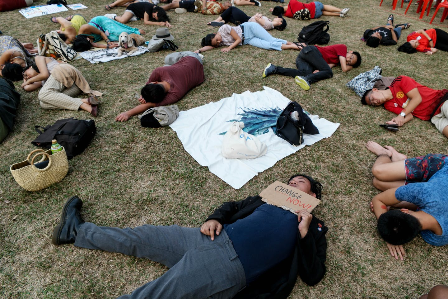 Die-in, Singapore climate rally