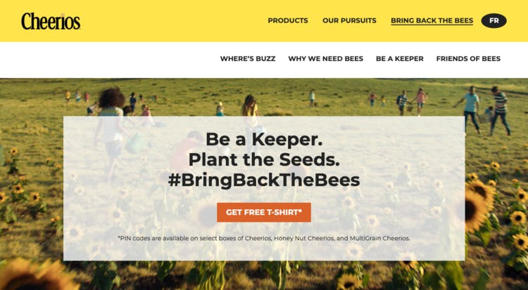 Cheerios bee-washing