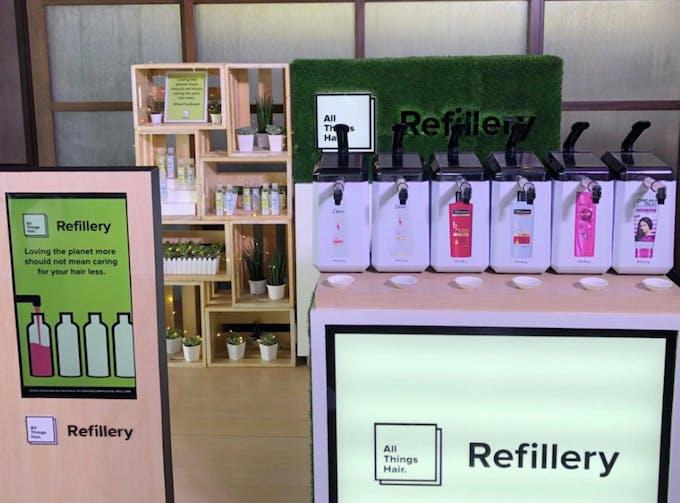 unilever hair refilling station