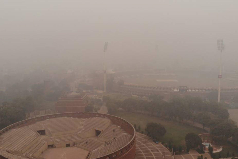 smog in gadaffi stadium lahore