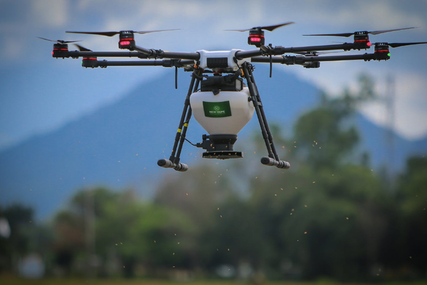 drone sprayer IRRI