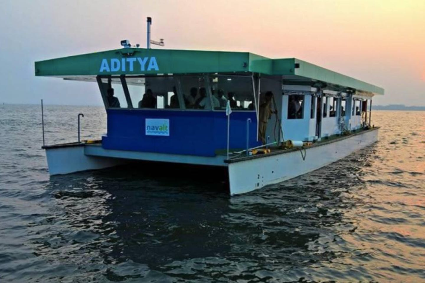 solar-powered ferry india