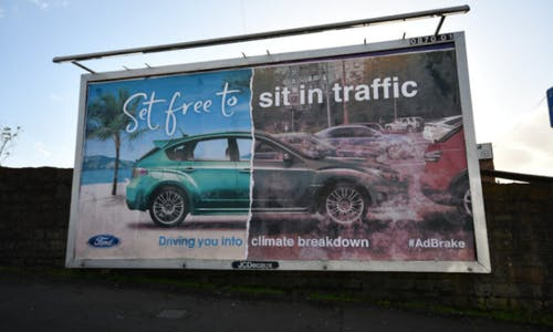 'Ban adverts for cars that damage the climate'