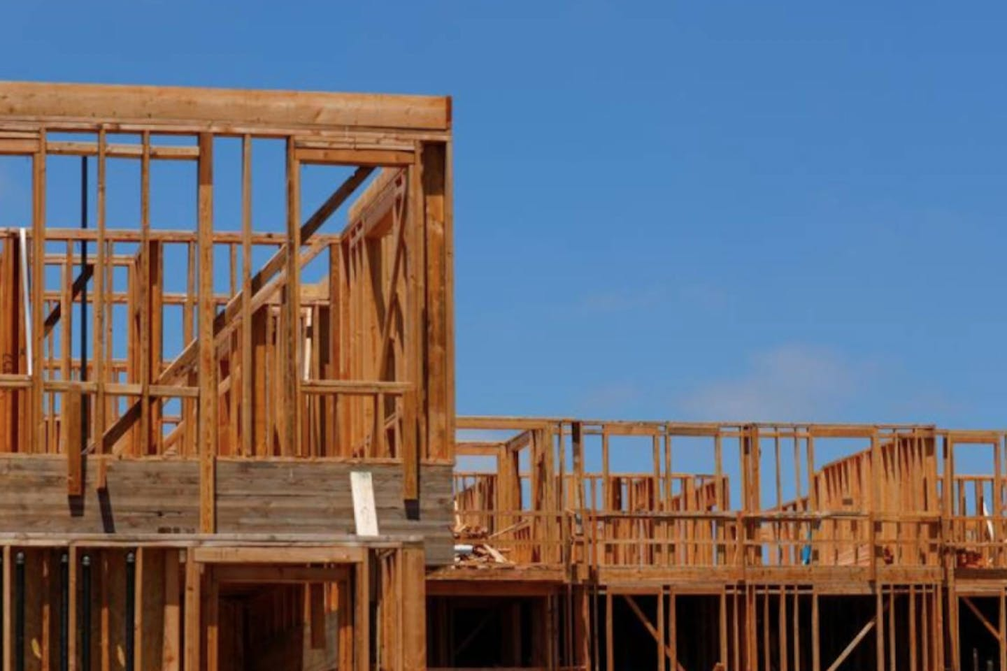 Development and construction continues on a large scale housing project of over 600 homes in Oceanside, California, U.S.