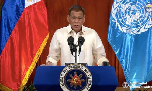 Duterte tells UN: Fight climate change with the same urgency as Covid-19