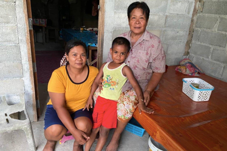 The family of Chai Bunthonglek, a farmer who was killed in 2015 in a community farm in Klong Sai Pattana Thailand