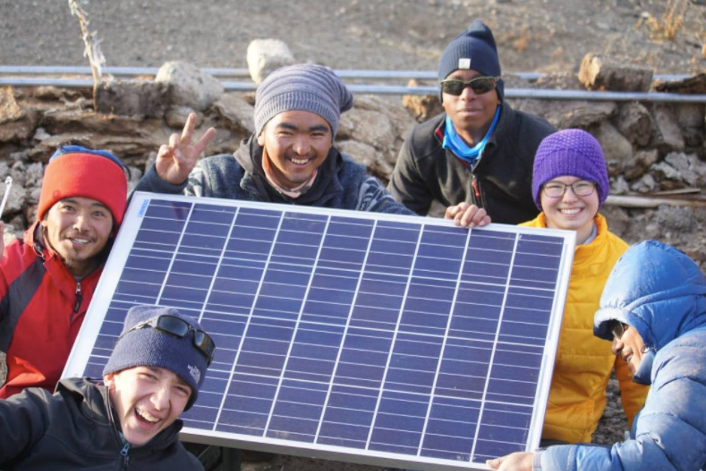 A solar grid is shown in this undated handout photo via UN Global Climate Action Awards