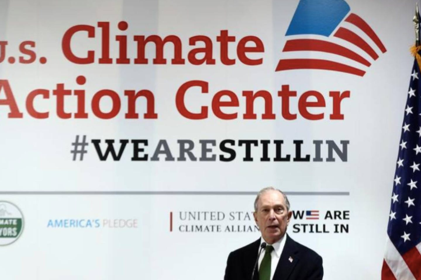 Michael Bloomberg speaks during a panel at the UN Climate Change Conference (COP25)