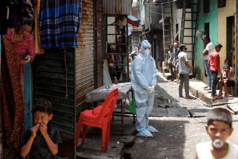 covid slum mumbai india