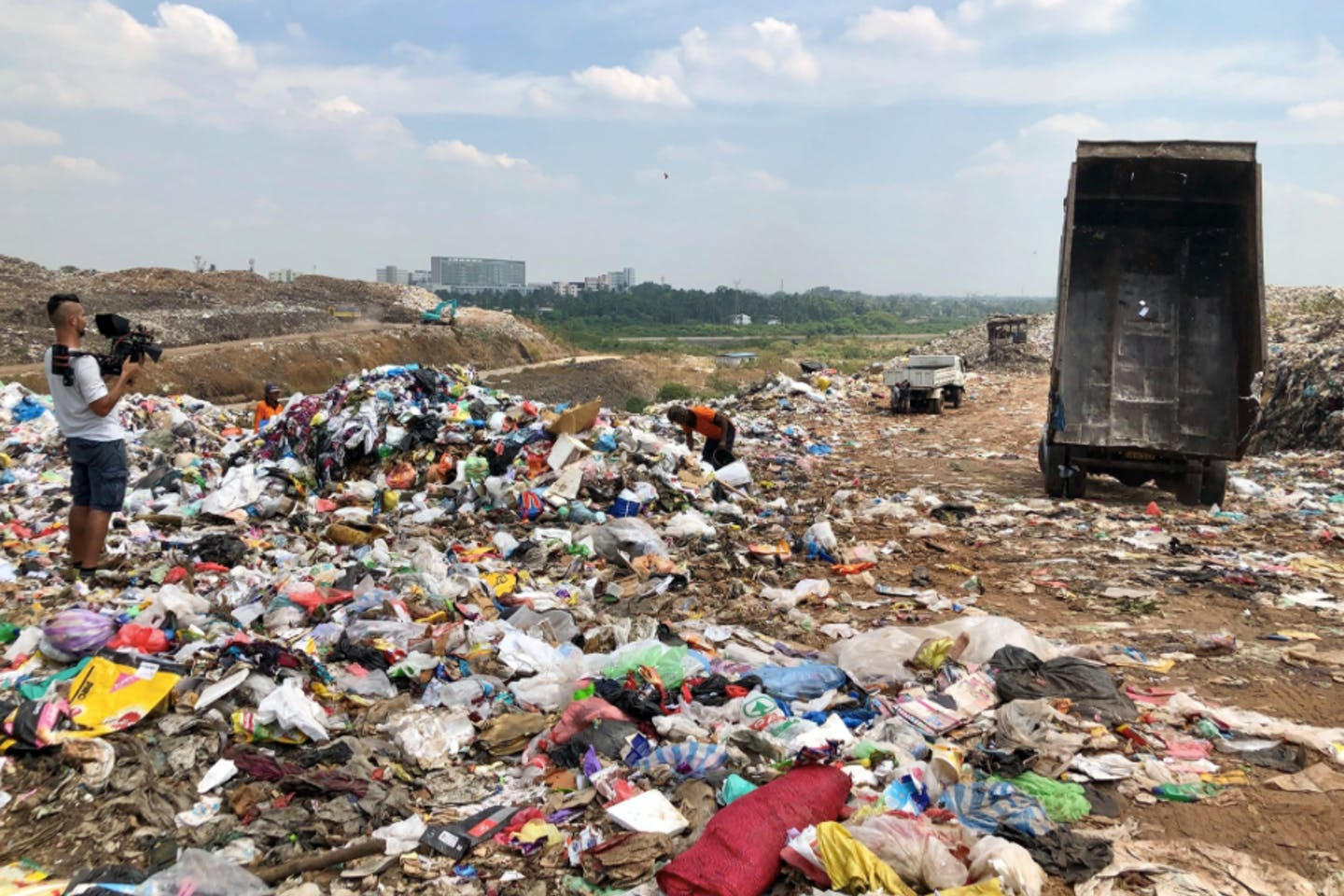 A landfill in Colombo, Sri Lanka