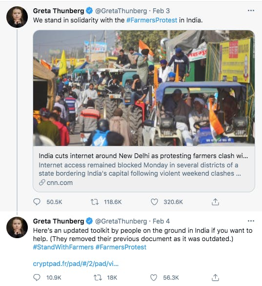 greta thunberg twitter screen shot