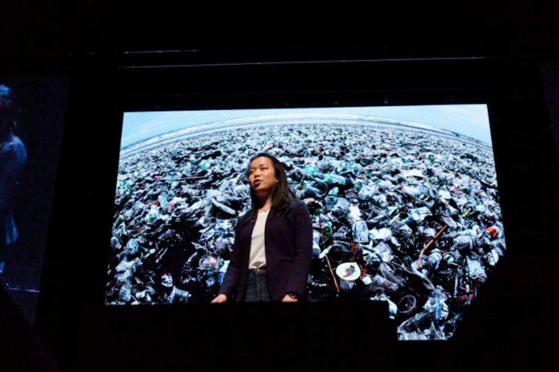 women social entrepreneurship Ted talk on plastic pollution2