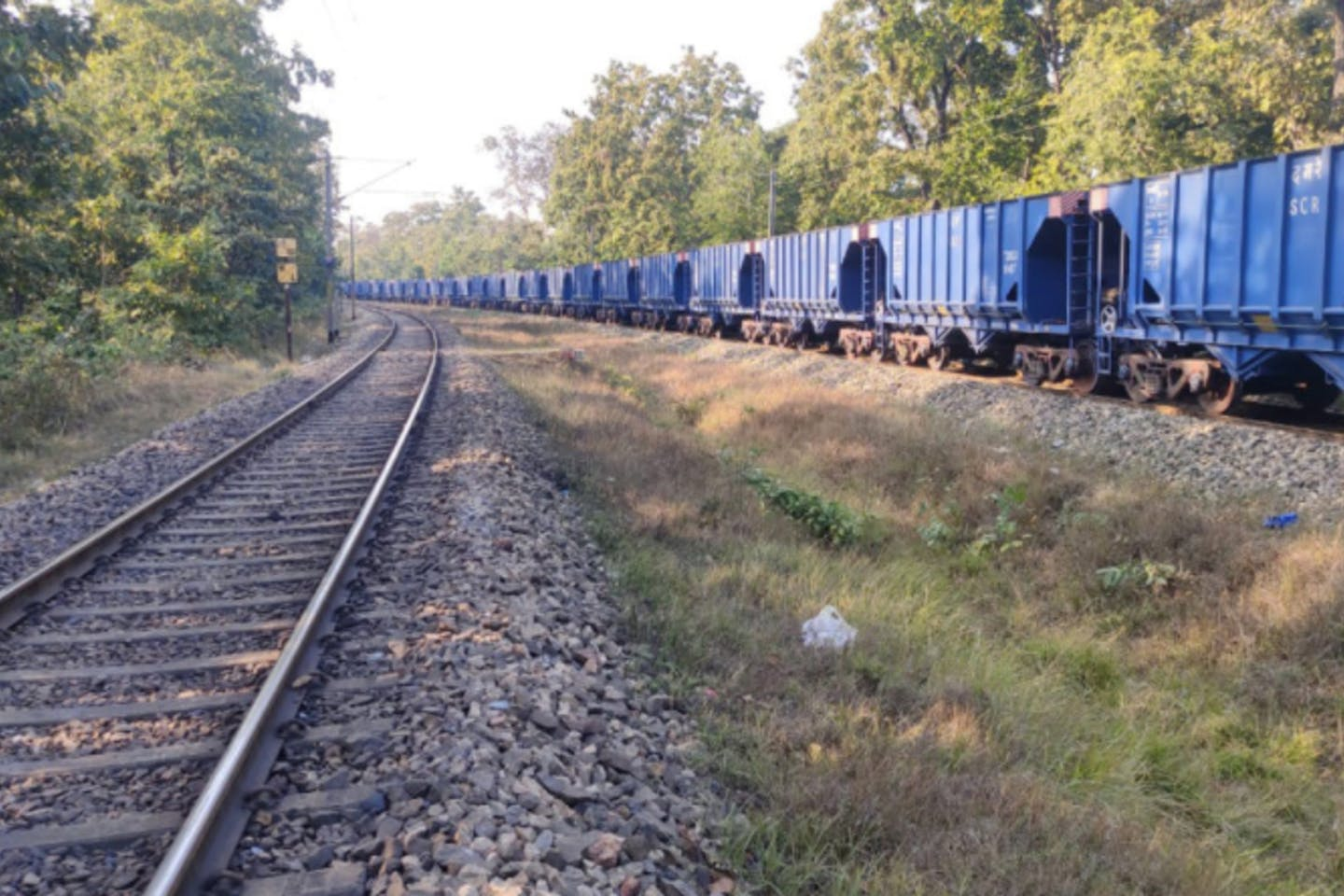 trains carrying coal Palamu Tiger Reserve