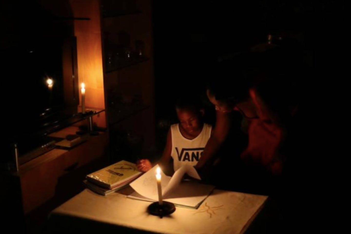 studying by candlelight africa