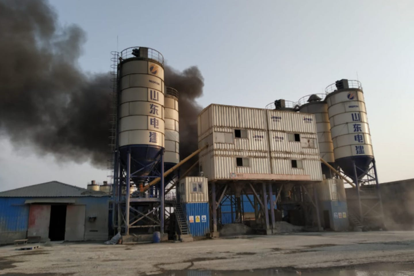 fire breaks out at the SS Power One plant