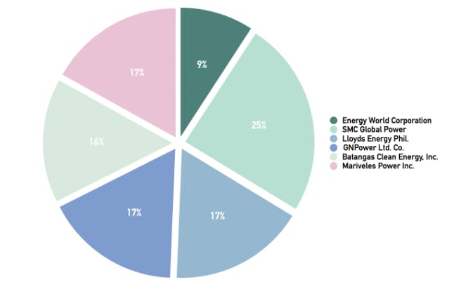 Capacity Share Ownership of Proposed Gas Power Plant as of 2021