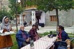 Simu Ladol serves her homestay guests with local tea in Ladakh, India
