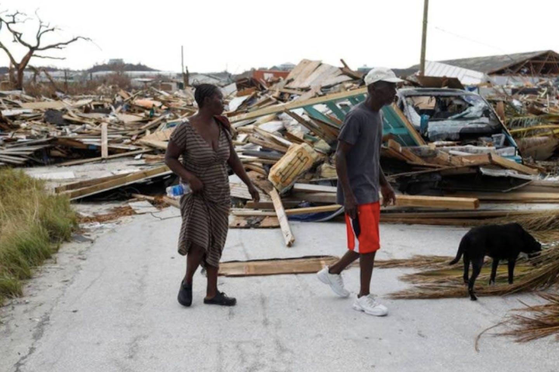 Hurricane Dorian hit the Abaco Islands in Marsh Harbour, Bahamas