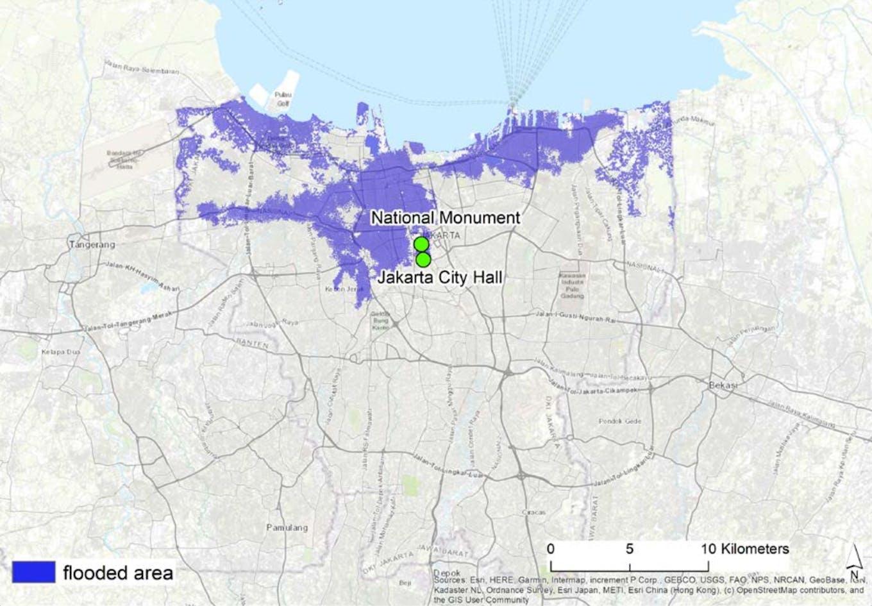 Jakarta flood risk