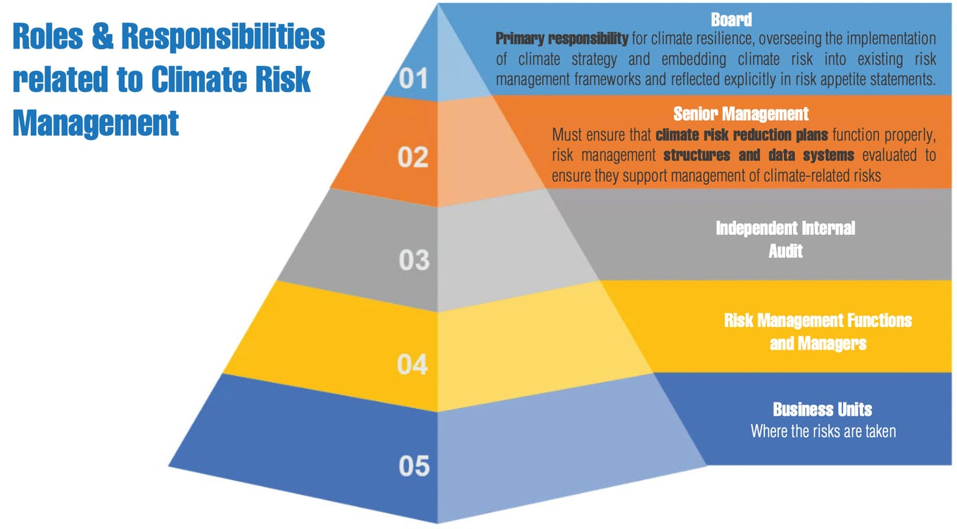 Roles & responsibilities related to climate risk management