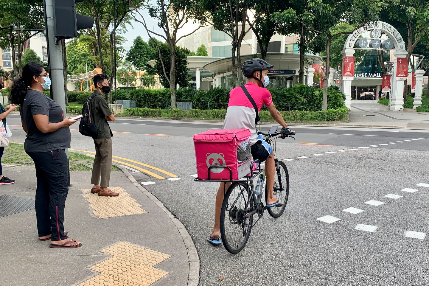 A Food Panda delivery rider