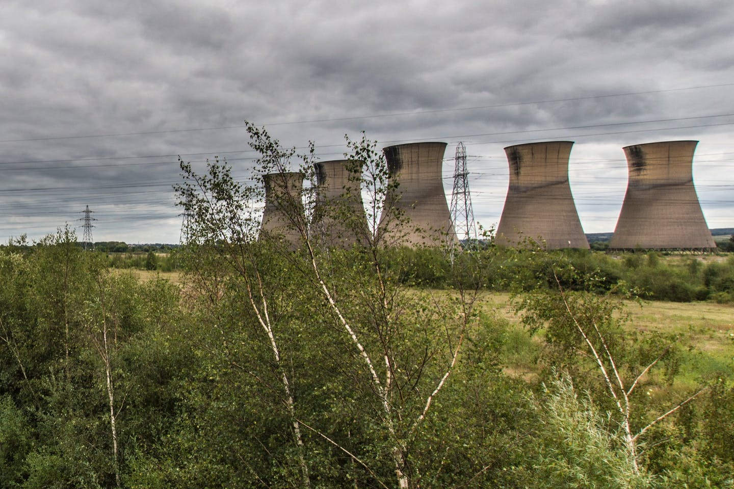 An abandoned coal-fired power station