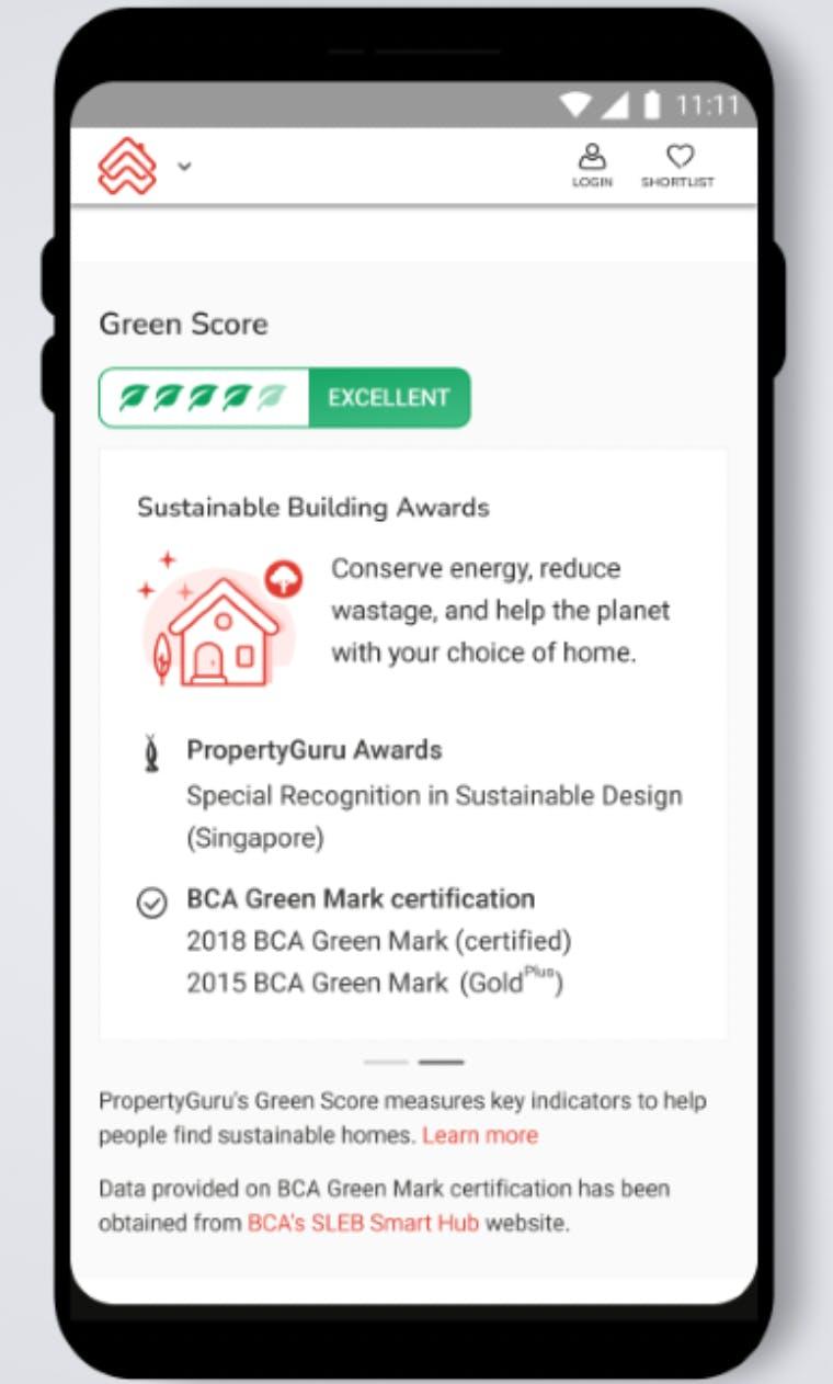 Green Score from PropertyGuru