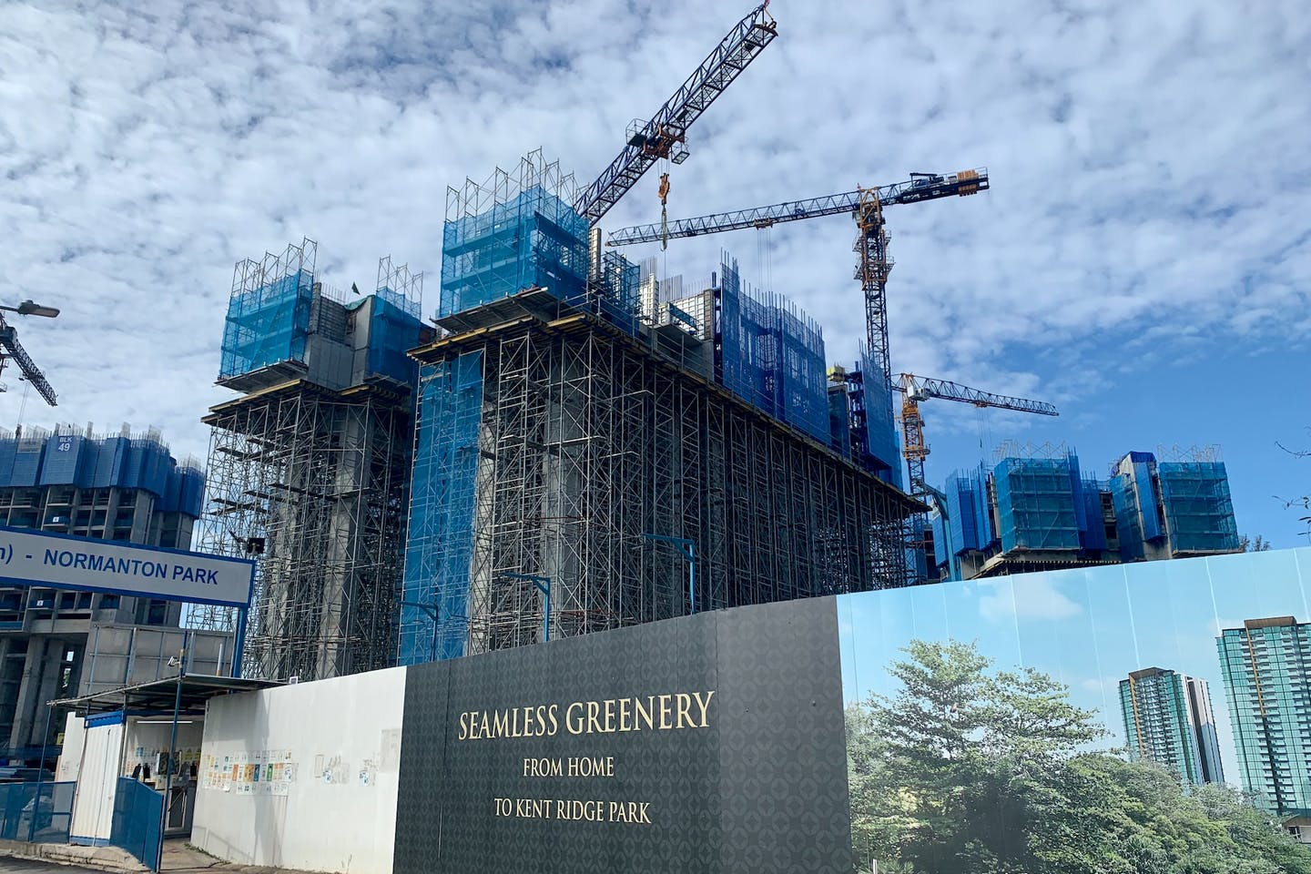A condo under construction in Singapore. Image: Robin Hicks/Eco-Business
