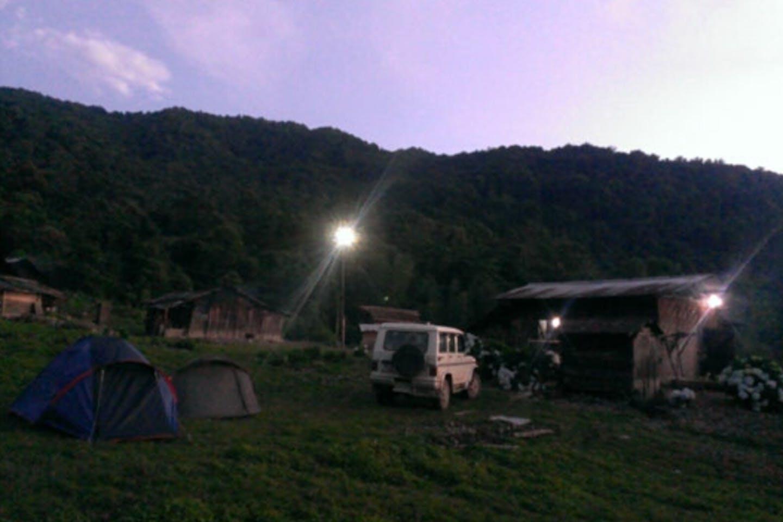 village in nagaland lit up by hydroger
