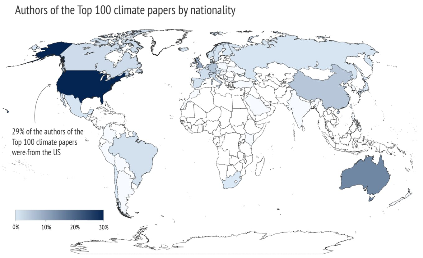 top 100 most cited climate science papers from 2016-20